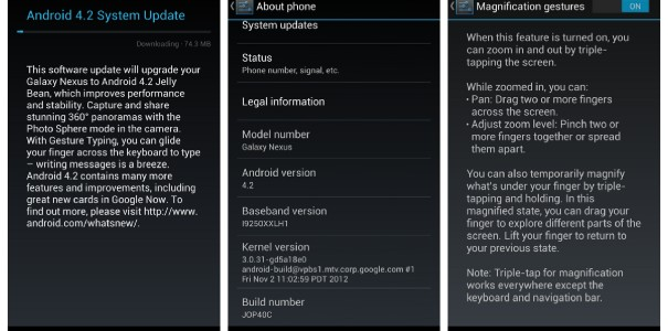 Samsung Galaxy Nexus bekommt Update auf Android 4.2 – Nexus 7 Update zum Download