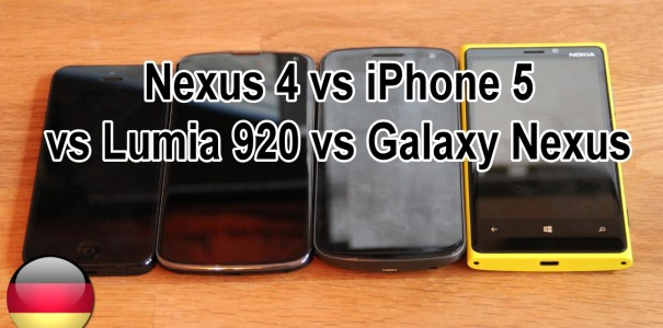 LG Nexus 4 vs iPhone 5, Galaxy Nexus und Lumia 920