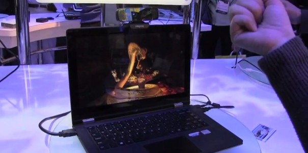 CES 2013: Perceptual Computing SDK Demo von Intel