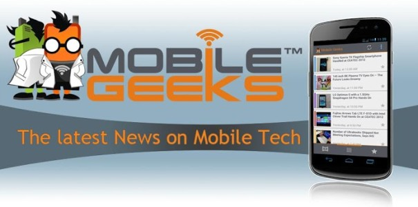 Mobile Geeks Android App mit Tablet Modus