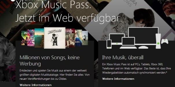 Xbox Music im Browser geht in Deutschland an den Start