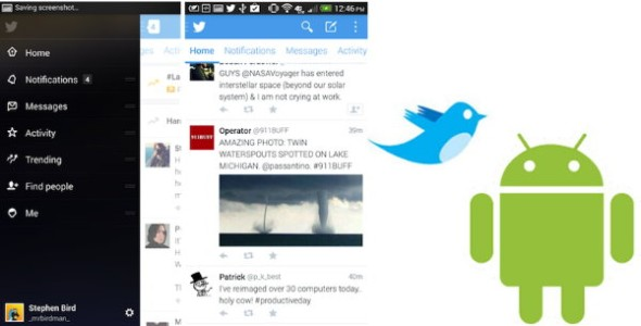 Twitter 5.0 beta fuer Android – Neues Design – Intweet Bilder und Video-Anzeige