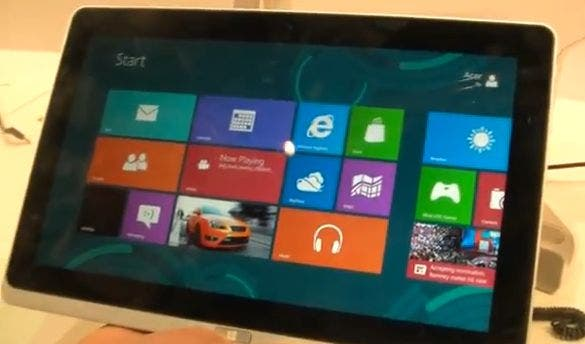 11,6 Zoll Acer Iconia Tab W700 mit Windows 8 und Ivy Bridge im Hands On