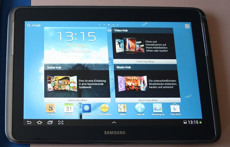 Review Deluxe: Samsung Galaxy Note 10.1 (Video)