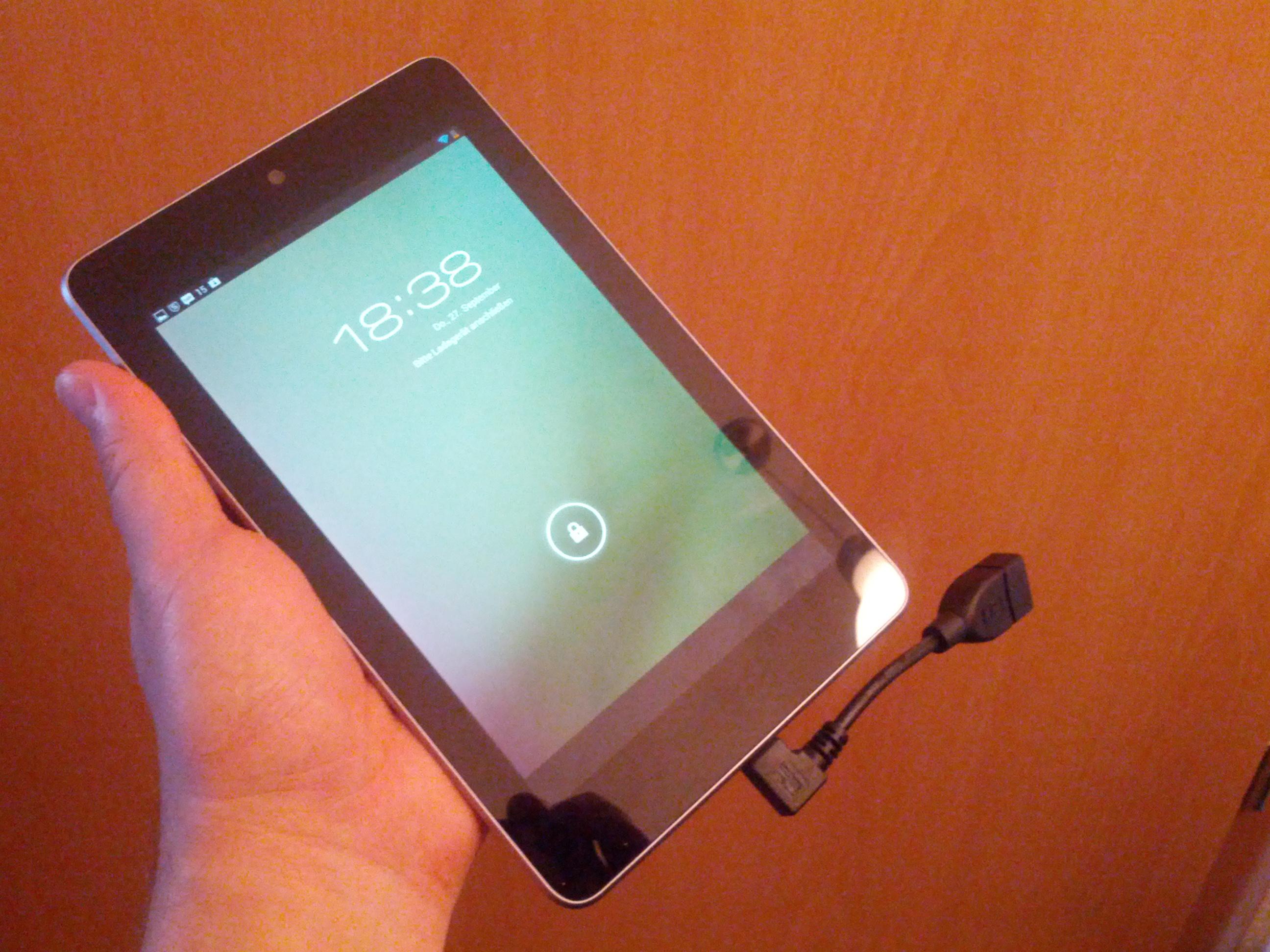 Nexus 7 Speicher temporär erweitern