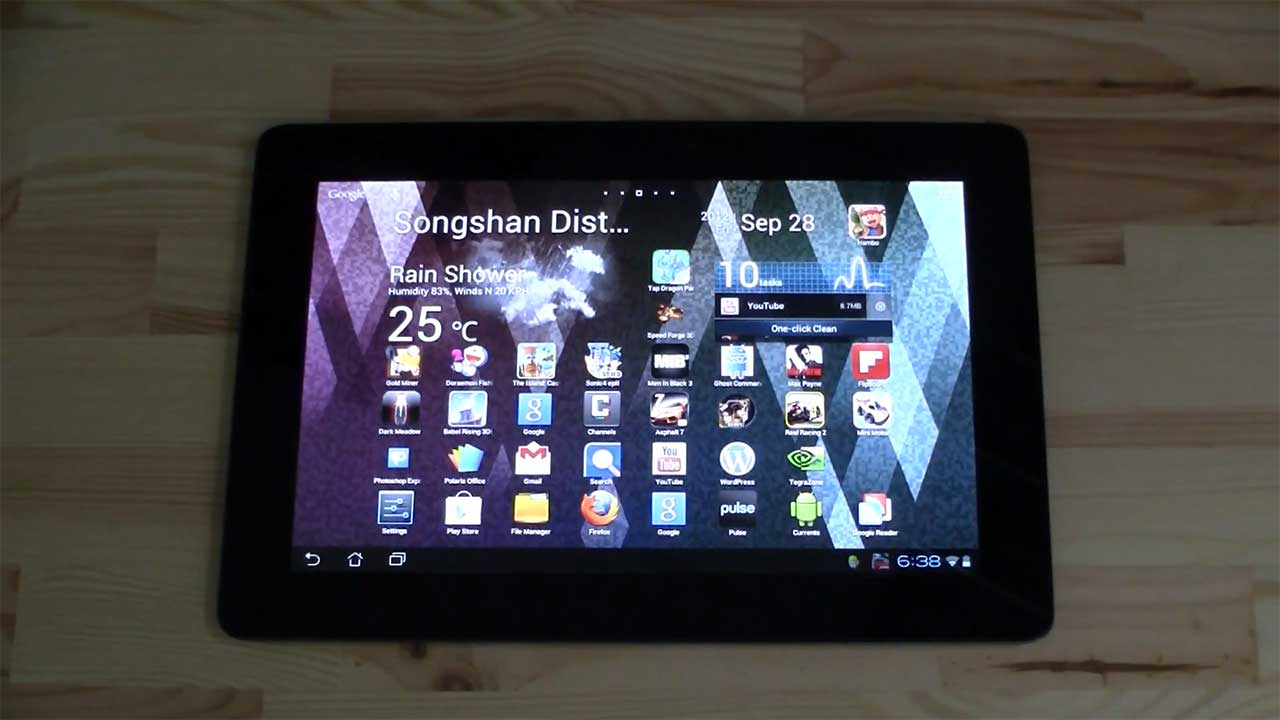 ASUS Transformer Pad Prime mit Android Jelly Bean