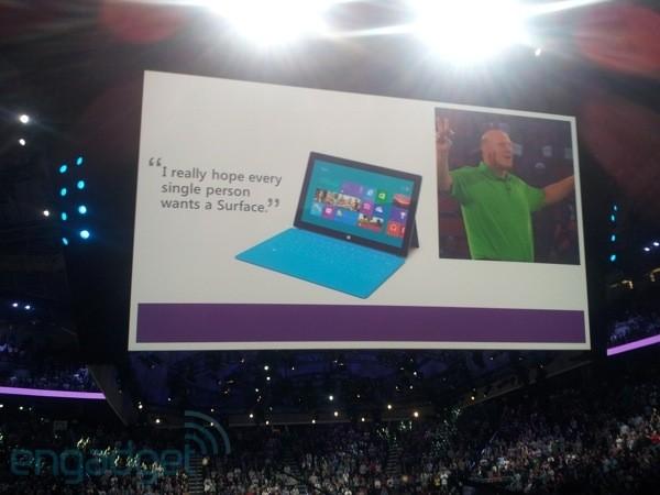 Ballmer schenkt jedem MS Mitarbeiter ein Surface-Tablet, WP 8 Smartphone und einen PC mit Win 8 *Update*