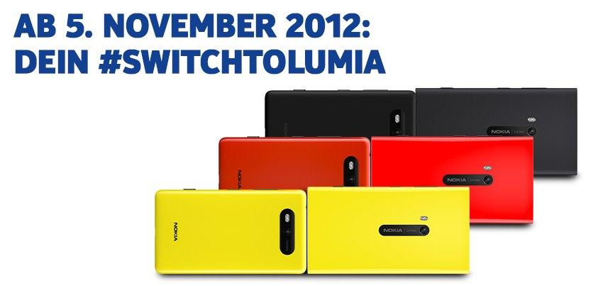 Nokia Lumia 820 und Nokia Lumia 920: ab dem 5. November in Deutschland zu kaufen