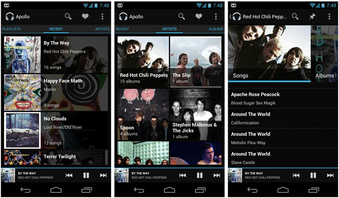 Apollo Music Player bei Google Play erhältlich