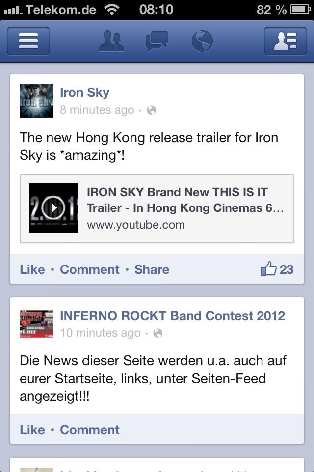 Facebook für iPod touch, iPhone und iPad: Jetzt auch Inhalte teilen!