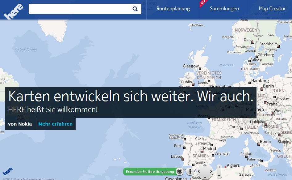 Nokia Here: Nokia stellt neue Karten-Plattform vor, kauft Earthmine