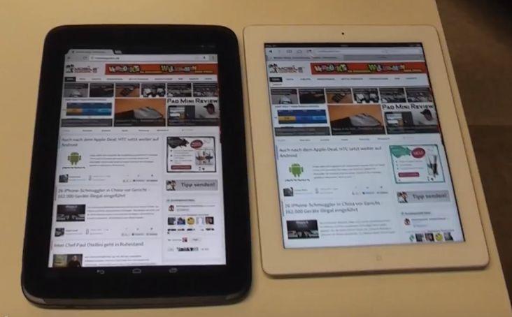 Video: Google Nexus 10 und Apple iPad 4 im direkten Vergleich