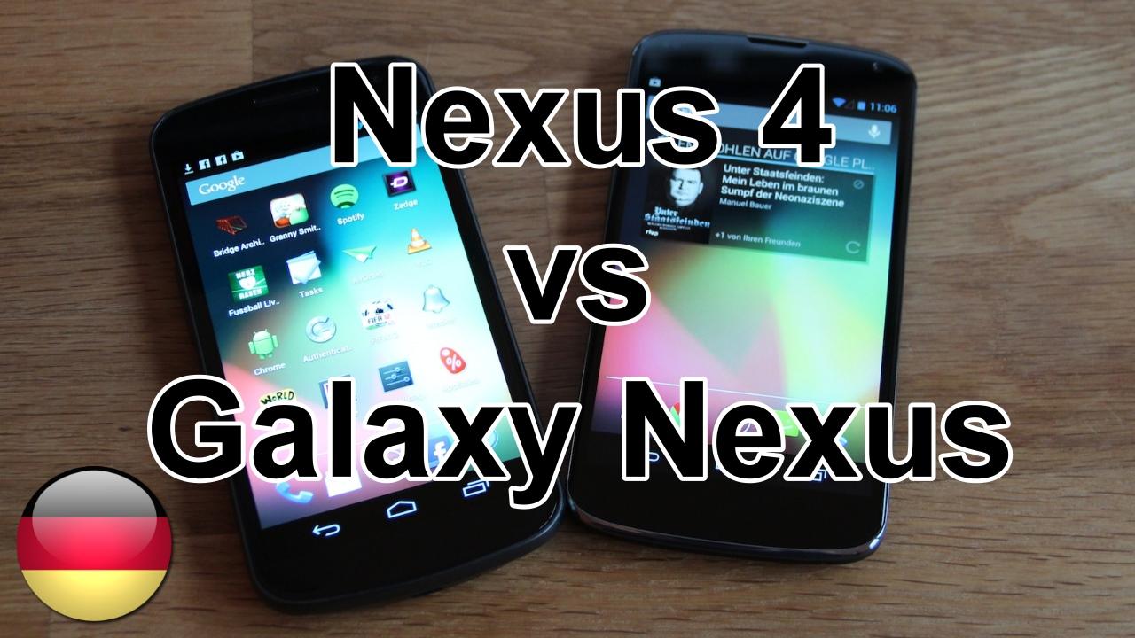 Im Vergleich: LG Nexus 4 und das Samsung Galaxy Nexus