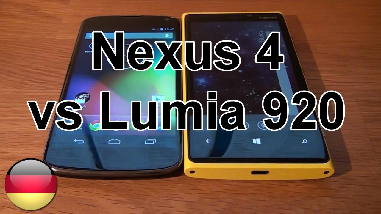 LG Nexus 4 vs Nokia Lumia 920 im Vergleich