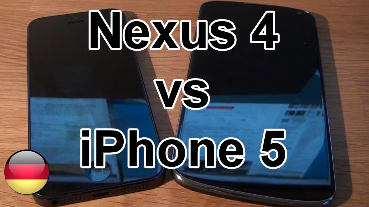 Im Vergleich: das LG Nexus 4 und das Apple iPhone 5