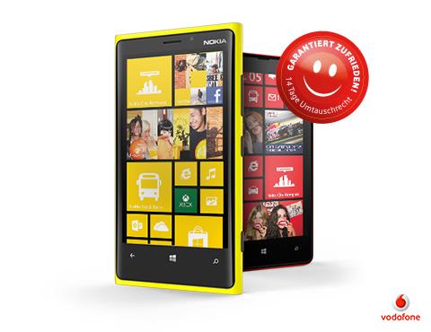 Nokia Lumia 820 und 920: Vodafone bietet Zufriedenheitsgarantie – 14 Tage Testzeit
