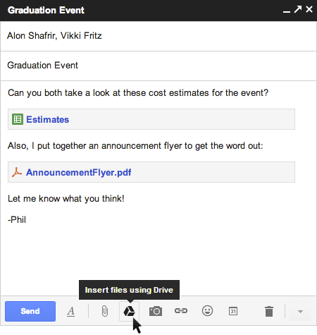 Google integriert Cloud Dienst Drive in Gmail