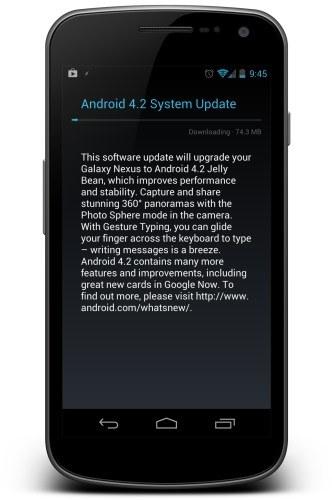 Samsung Galaxy Nexus: Android 4.2 Jelly Bean wird ausgerollt
