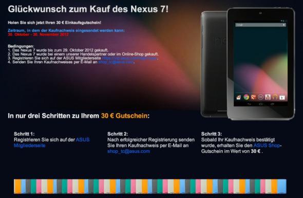 Google Nexus 7: kein Gutschein für Google Play-Käufer *Update: Gutschein bei Media Markt*