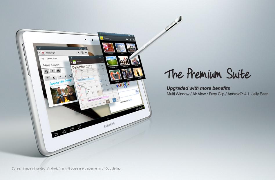 Premium Suite: Neue Funktionen für das Samsung Galaxy Note 10.1