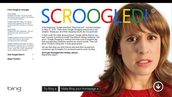 Don't get scroogled: Jetzt schießt Microsoft gegen Google