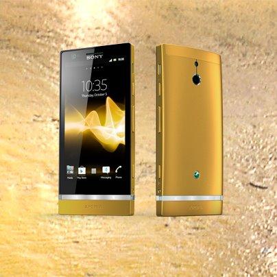 Sony Xperia P in 24 Karat vergoldet – und zu gewinnen