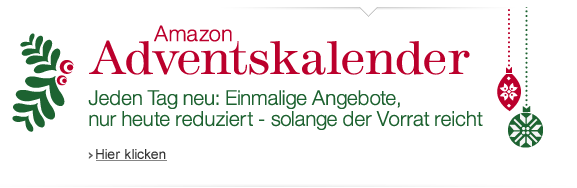 Amazon Blitzangebote und Adventskalender: Displays, Kameras, Staubsauger-Roboter, Software und Co