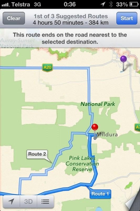Australische Polizei warnt vor Verwendung von Apple Maps