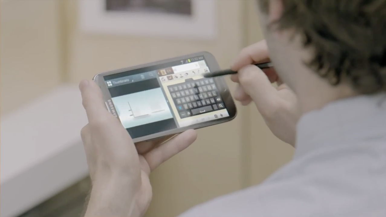 "Samsung Galaxy Note 2: Werbespot ""Office Upgrade"""