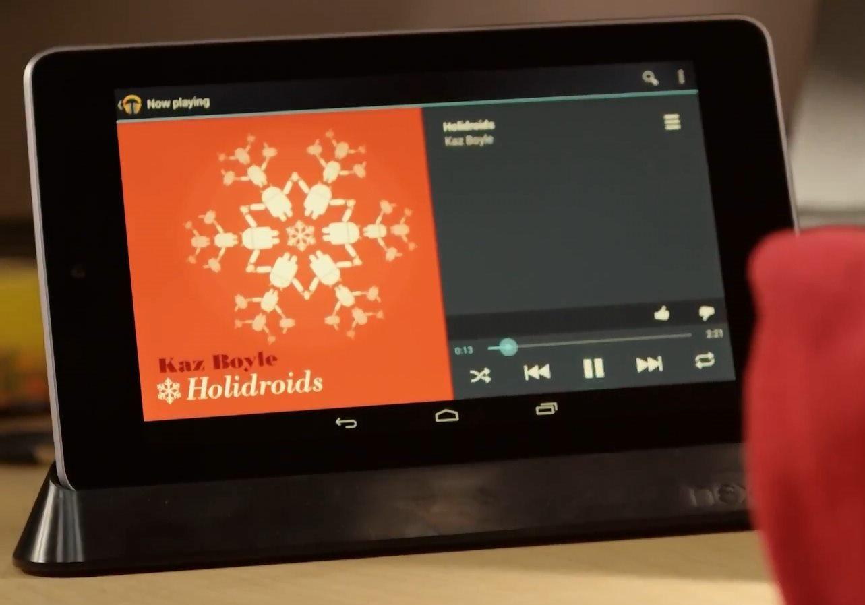 Nexus 7 Dockingstation und Nexus 10 Dock tauchen in Android Weihnachtsvideo auf