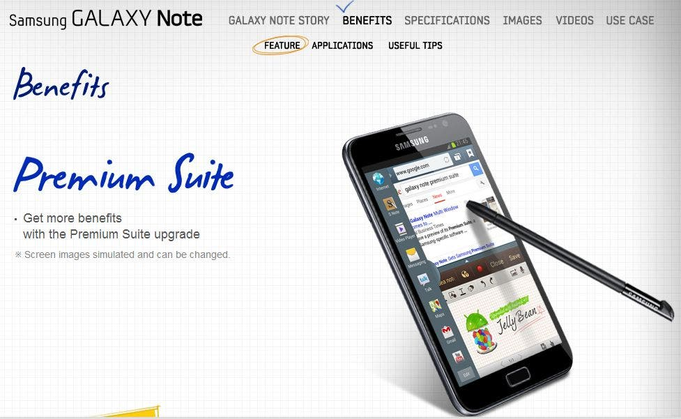 Offiziell bestätigt: Samsung Galaxy Note erhält mit Android 4.1.2 Premium Suite