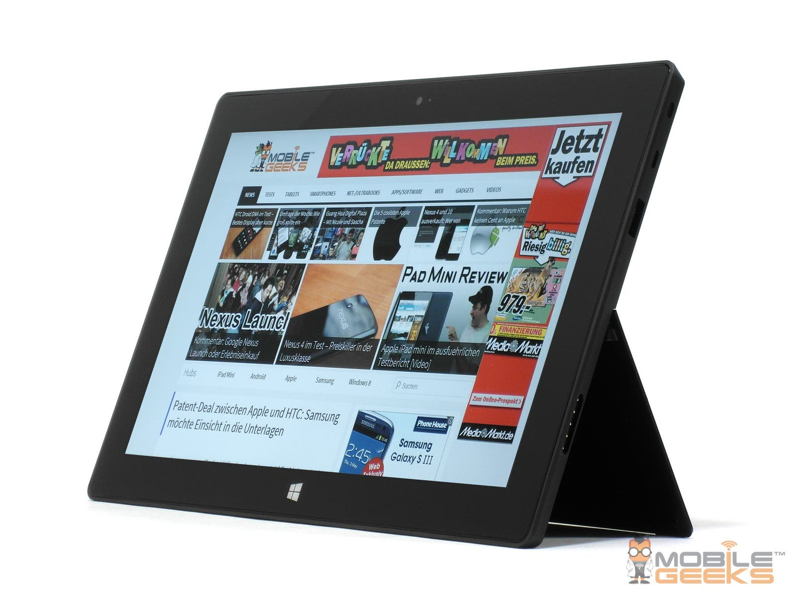 Microsoft Surface RT Tablet: Vertrieb über Media Markt, Saturn & Expert hat begonnen – Version mit Touch-Cover mit Rabatt