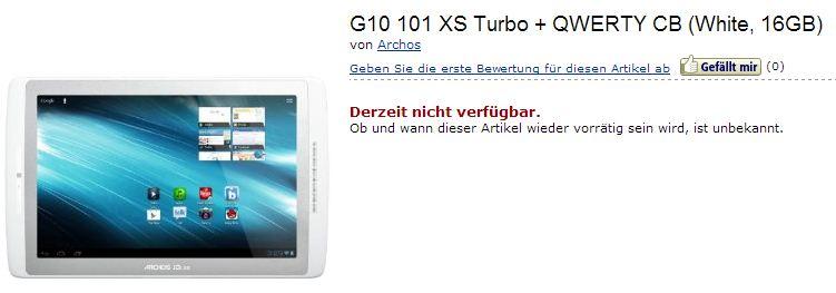 Archos 101 XS Turbo bei Amazon gelistet