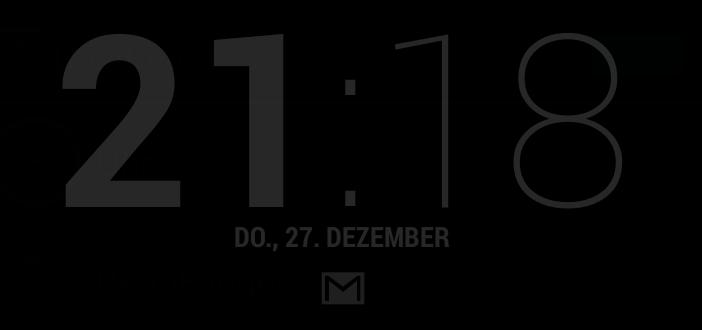 Android Jelly Bean: Erweiterte Anzeige der Uhr mit Clock plus DayDream