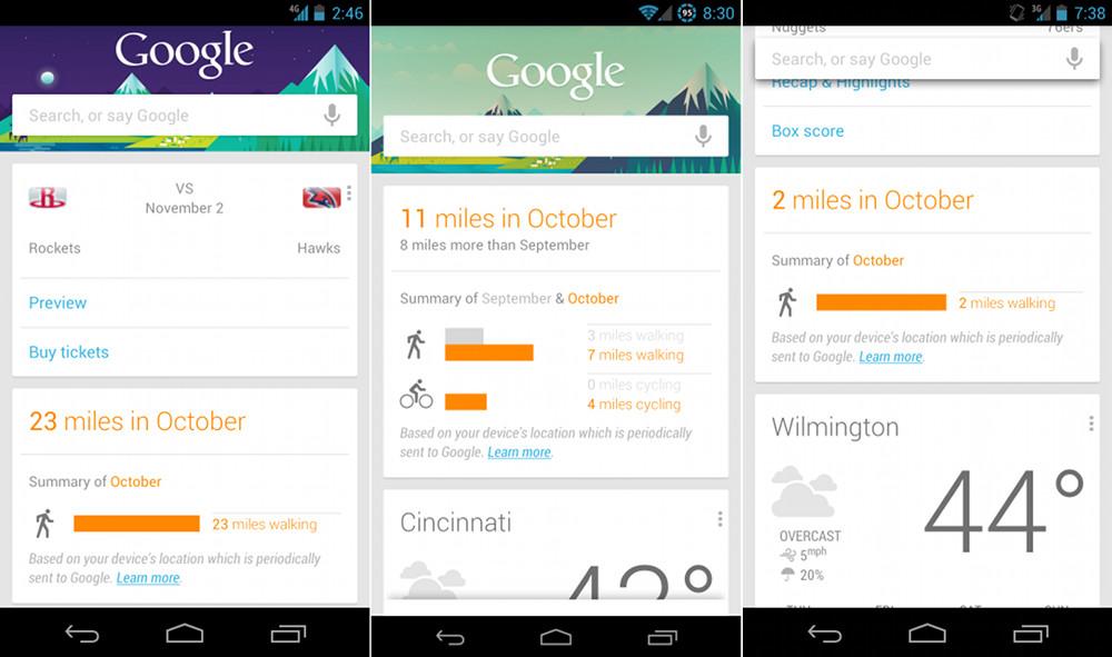 Google Now – neue Features, neue Karten