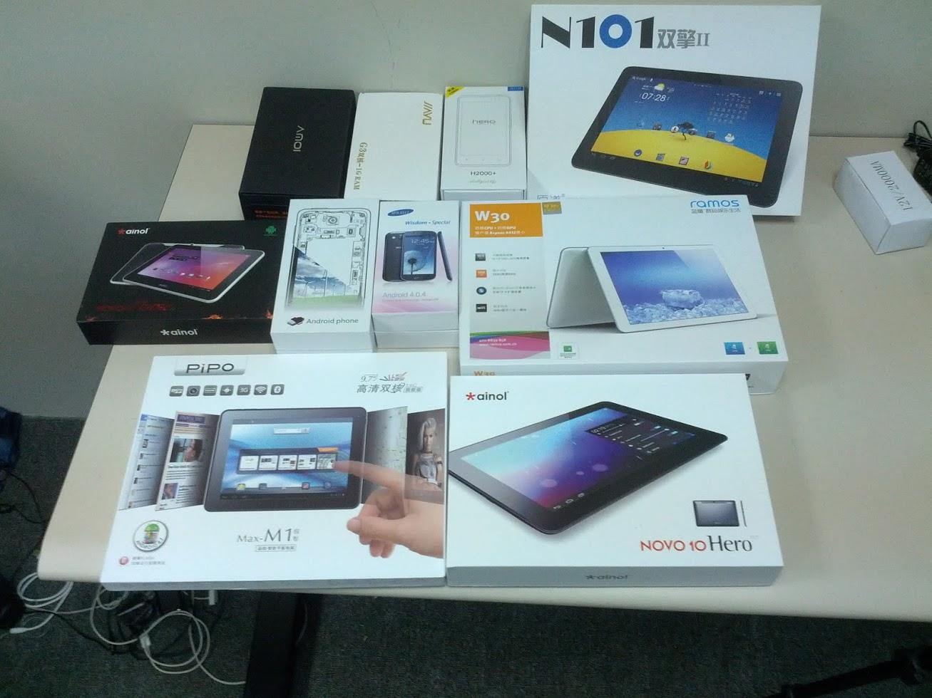 Neue Smartphones und Tablets aus Shenzhen eingetroffen