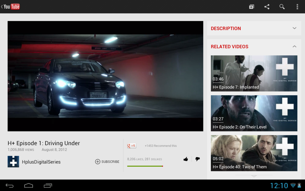 YouTube: neue UI für große Android Tablets