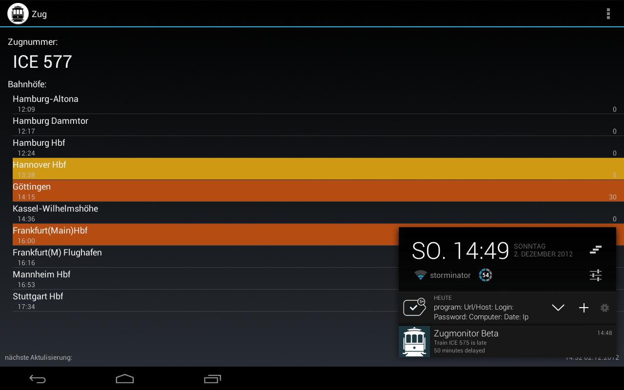 Zugmonitor: Zugverspätungen in der Übersicht mit Android