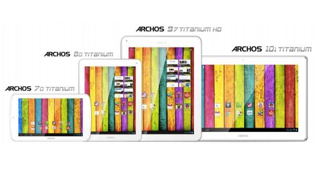 CES 2013: Archos nennt offizielle Preise für die vier Titanium Tablets