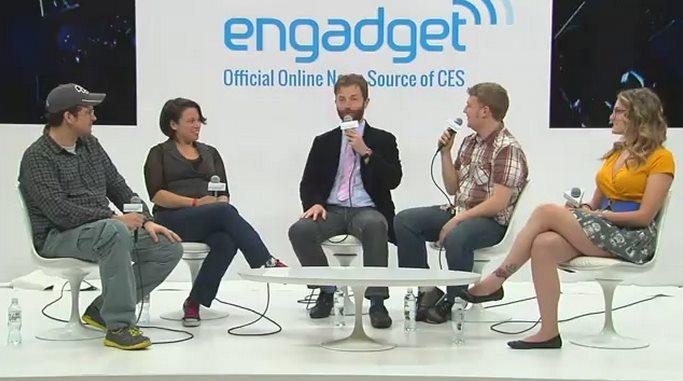 Nicole und Sascha auf der Engadget CES Stage (live aufgezeichnet)