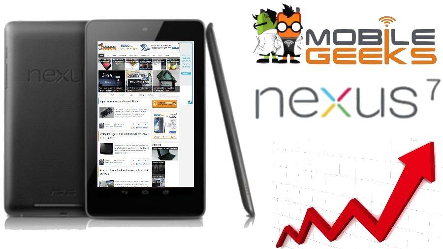 Google Nexus 7 ist die beliebteste Mobile Plattform auf Mobilegeeks.de