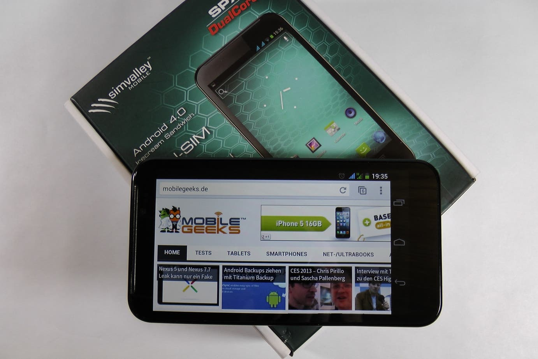 Simvalley SPX-12 im Unboxing  – Kurztest des 5.2-inch Dualcore/Dual-SIM Androiden