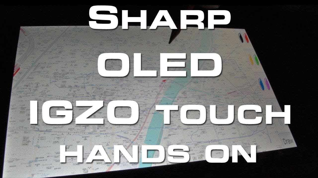 CES 2013: Sharp OLED IGZO Touch Display Hands On