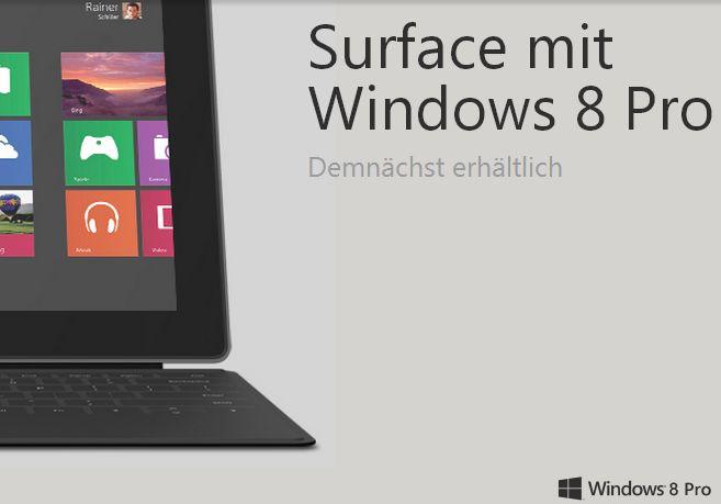 Microsoft Surface Pro doch schon ab Mitte Februar in Deutschland?