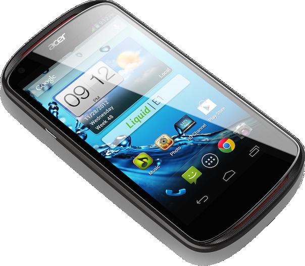 "Acer Liquid E1 4,5-inch Smartphone mit Android ""Jelly Bean"" vorgestellt"