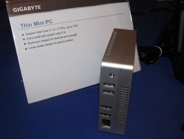 CES 2013: Gigabyte zeigt Kleinst-PC mit Intel Core i3/i5/i7