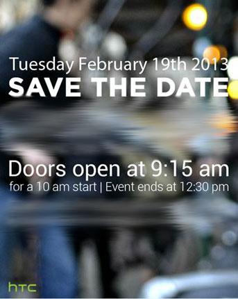HTC lädt zum Presse-Event am 19. Februar – Launch des HTC M7?