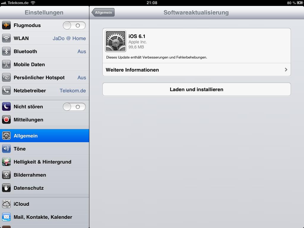 Apple gibt iOS 6.1 zum Download frei