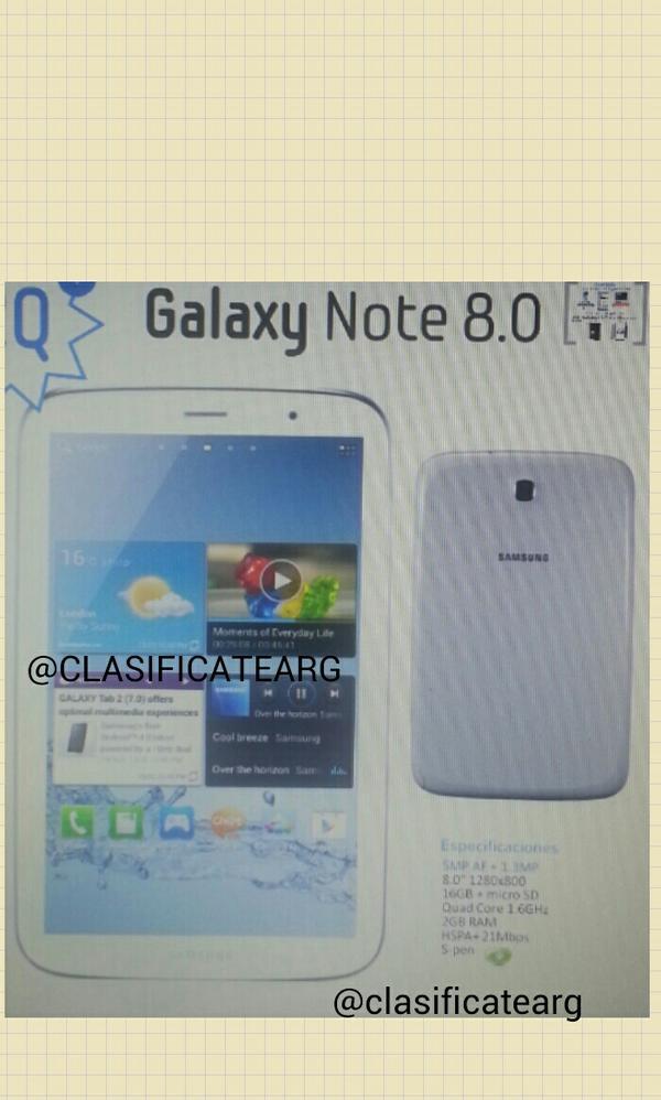 Samsung Galaxy Note 8.0: Das erste Foto des neuen Tablets?