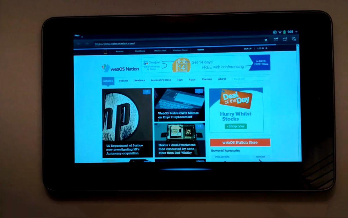 WebOS auf dem Google Nexus 7